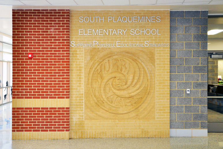 Trendstone Plus Masonry Blocks in S. Plaquemines Elementary
