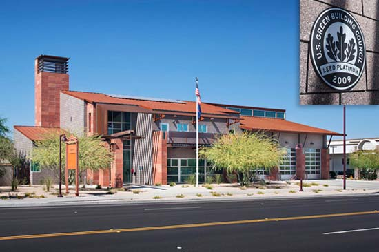 Trenwyth Trendstone Architectural Masonry Used for Scottsdale Fire House