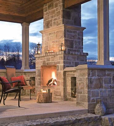 Waterford Stone Fireplace by Echelon Masonry