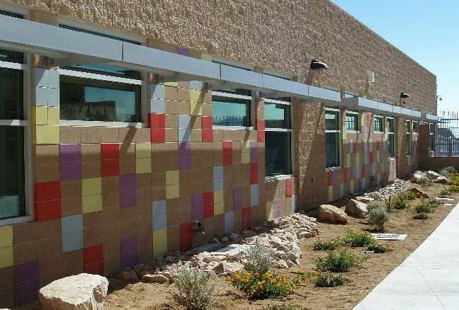 Astra-Glaze SW+ Concrete Masonry Units Used to Build Ruby Duncan Elementary School