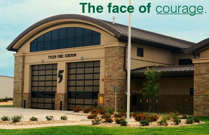 Fire Station 5 Built with Waterford Stone in Tyler, TX