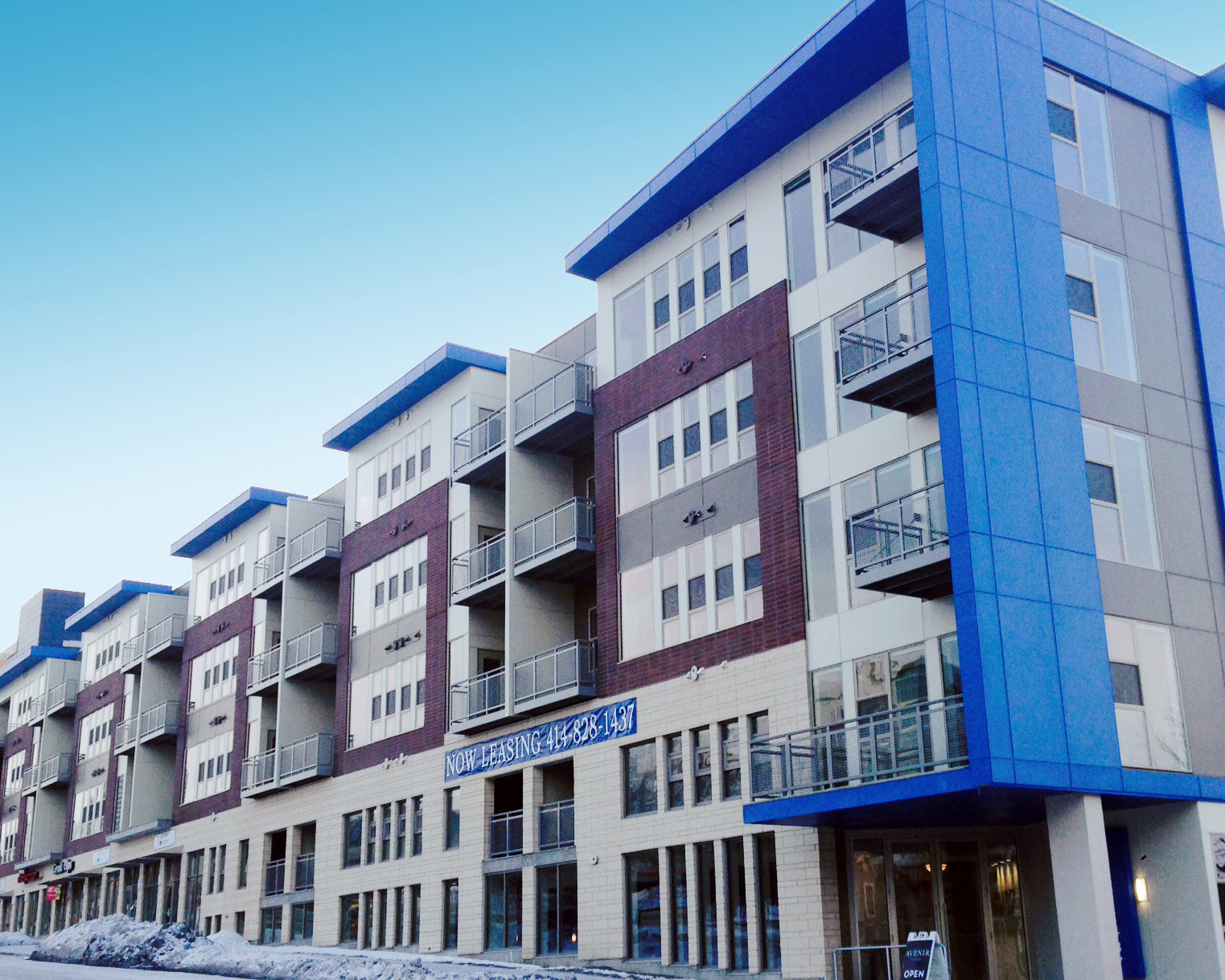 Avenir Mixed Use Development Built with EnduraMax, Harvard Brik & Cordova Stone