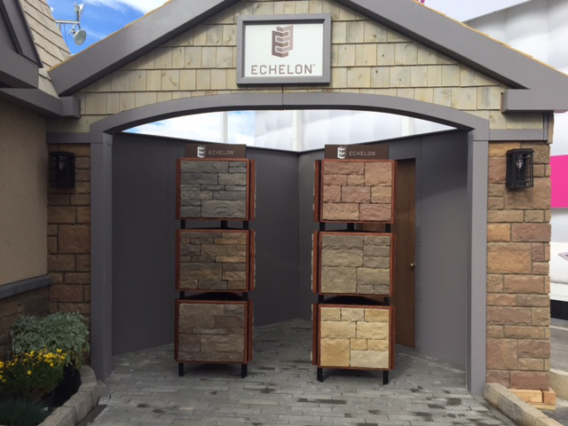 Echelon's Outdoor Booth at the Builders' Show