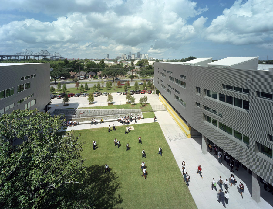 Aerial View of L.B. Landry High School