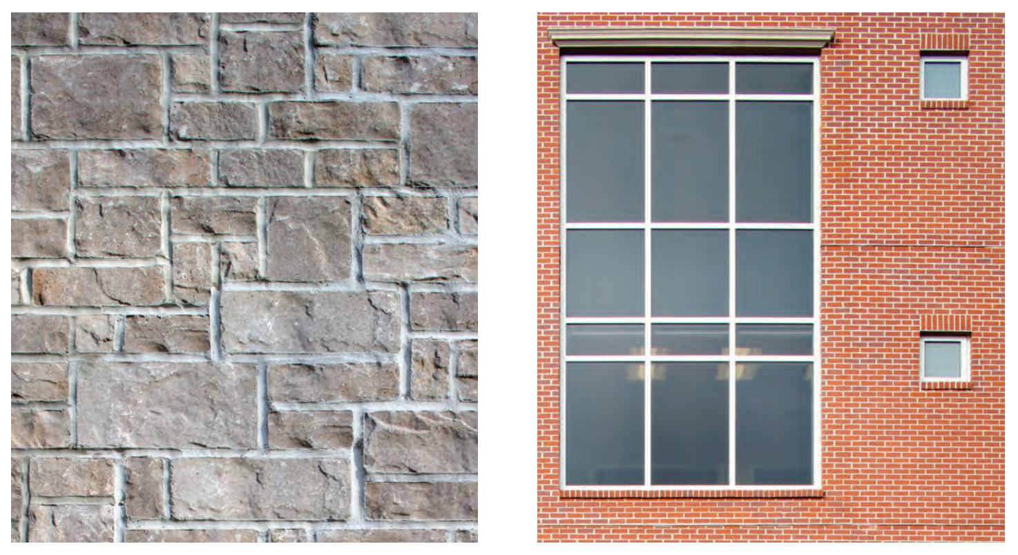 EnduraMax Morency Stone & EnduraMax Clay Brick