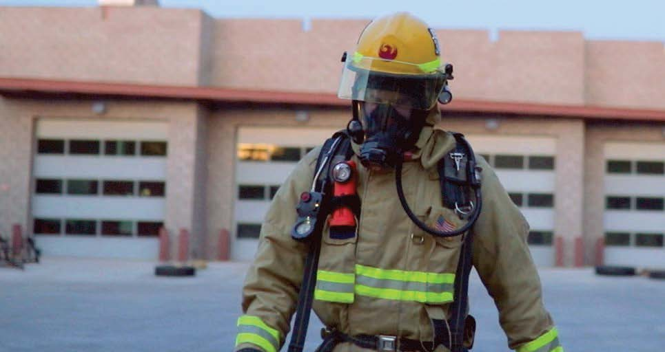 Firefighter Outside Phoenix Fire Department Station 59