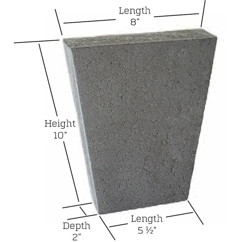 Cordova stone keystone measurements