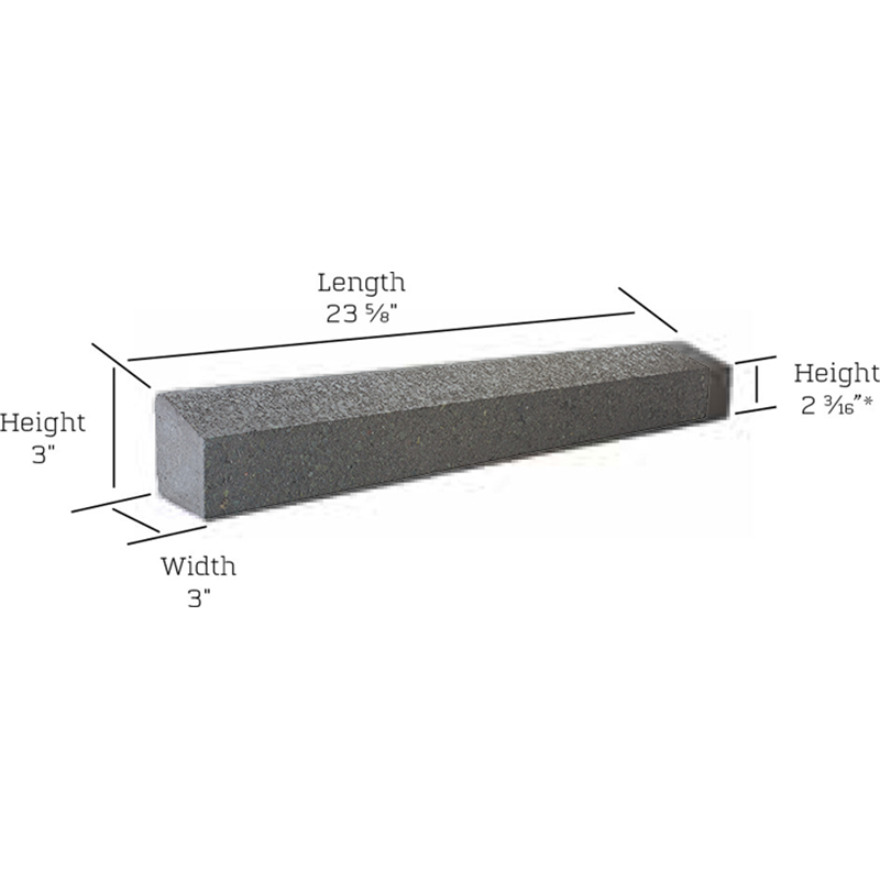 Cordova stone sloped sill measurements