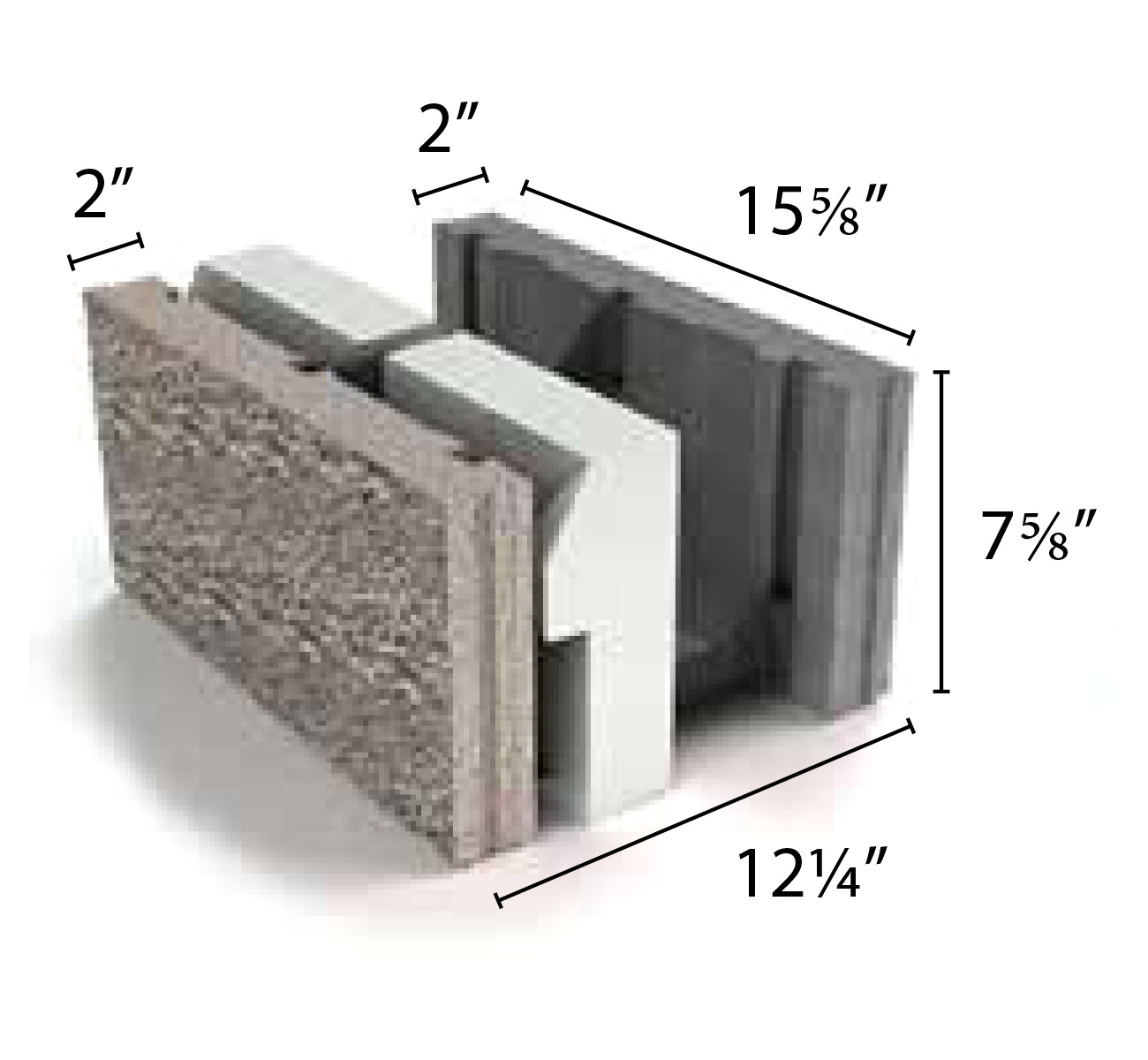 Architectural concrete masonry products from echelon masonry for Insulated concrete masonry units